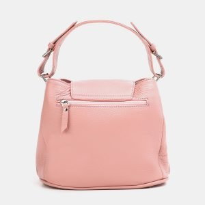 Кожаная розовая женская сумка ATS-3766 211308
