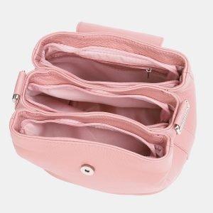Кожаная розовая женская сумка ATS-3766 211309