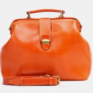 Функциональная оранжевая женская сумка ATS-3772