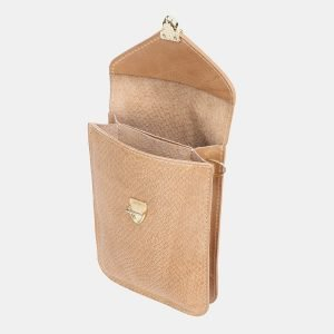 Удобный бежевый женский клатч ATS-3792 211189