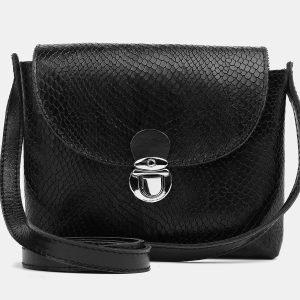 Удобный черный женский клатч ATS-3779