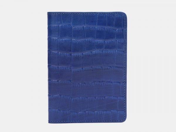 Кожаная голубовато-синяя обложка для паспорта ATS-2205