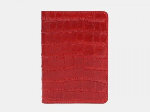 Солидная красная обложка для паспорта ATS-3800