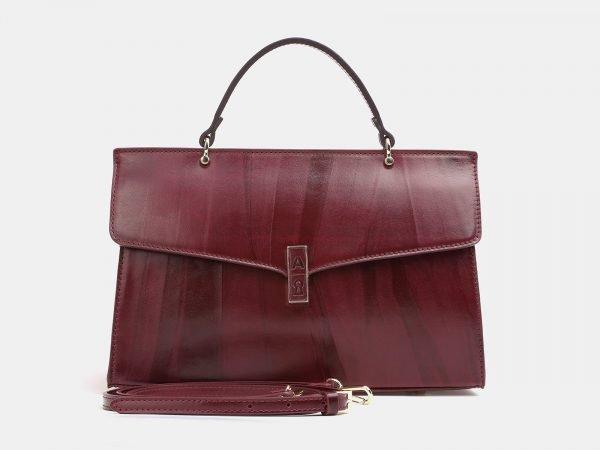 Функциональная бордовая женская сумка ATS-3850