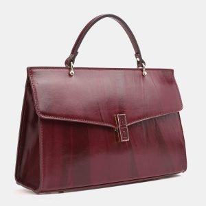 Функциональная бордовая женская сумка ATS-3850 210891