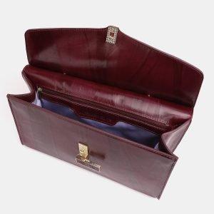 Функциональная бордовая женская сумка ATS-3850 210893