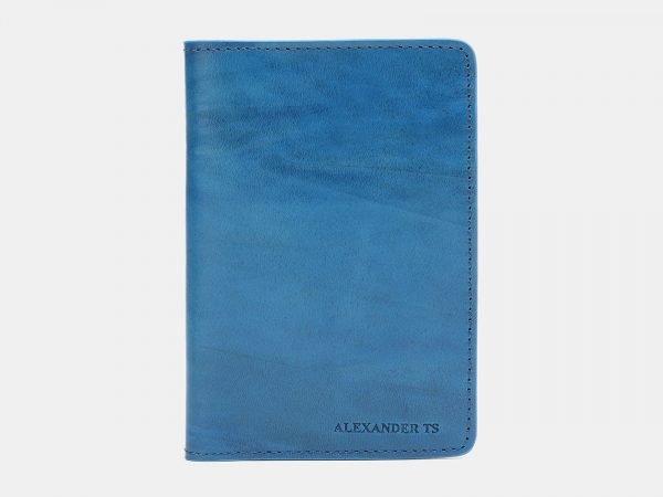 Уникальная зеленовато-голубая обложка для паспорта ATS-3804