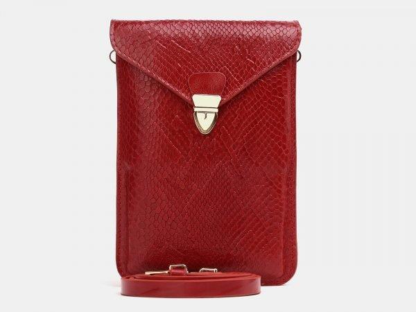 Вместительный красный женский клатч ATS-3833