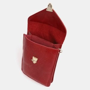 Вместительный красный женский клатч ATS-3833 210977