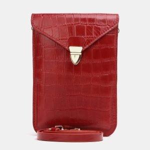 Вместительный красный женский клатч ATS-3831