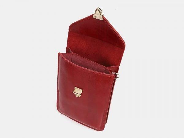 Функциональный красный женский клатч ATS-3830