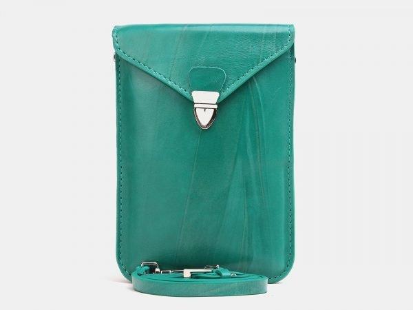 Деловой зеленый женский клатч ATS-3834