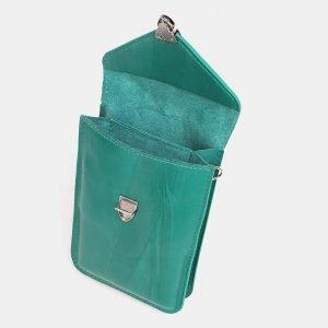 Деловой зеленый женский клатч ATS-3834 210972