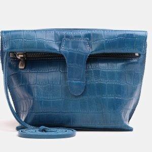 Деловой голубовато-синий женский клатч ATS-3839