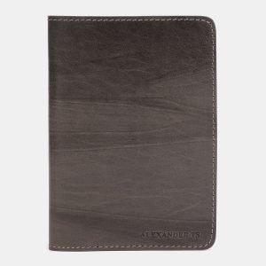 Кожаная коричневая обложка для паспорта ATS-1490