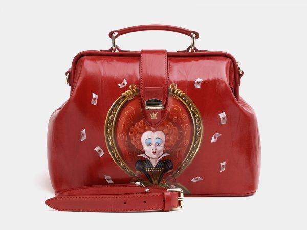 Неповторимая красная сумка с росписью ATS-3829