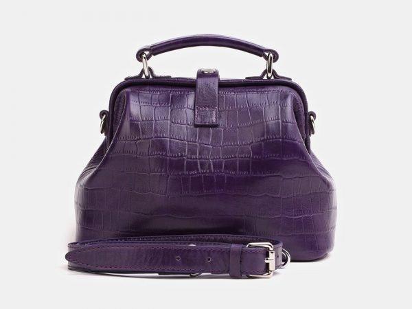 Солидная фиолетовая женская сумка ATS-3847