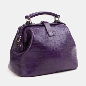 Солидная фиолетовая женская сумка ATS-3847 210906