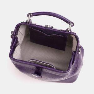 Солидная фиолетовая женская сумка ATS-3847 210908