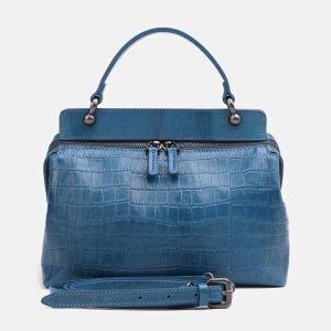 Стильная зеленовато-голубая женская сумка ATS-3860