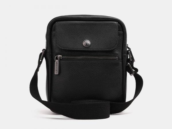 Кожаный черный мужской планшет ATS-3855