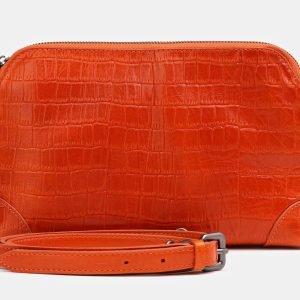Деловая оранжевая женская сумка ATS-3852