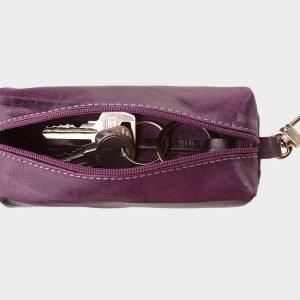 Кожаная фиолетовая ключница ATS-748 217150