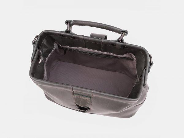 Кожаная серая женская сумка ATS-3869