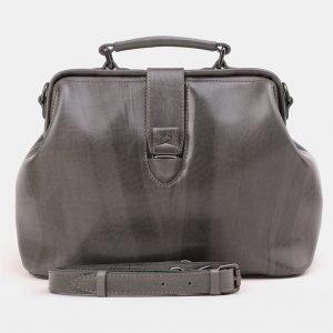 Солидная серая женская сумка ATS-3868