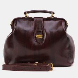 Солидная бордовая женская сумка ATS-3870