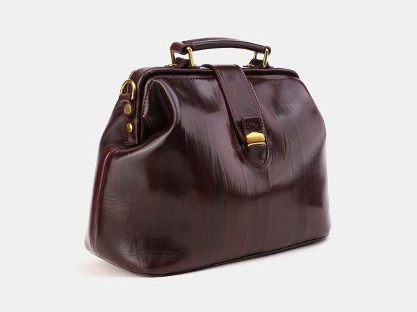 Кожаная бордовая женская сумка ATS-3870