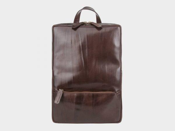 Деловой коричневый рюкзак кожаный ATS-3525
