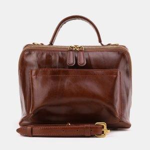 Солидная светло-коричневая женская сумка ATS-3872