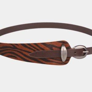 Кожаный коричневый женский модельный ремень ATS-1252