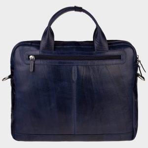 Функциональный синий портфель с росписью ATS-1892 216139