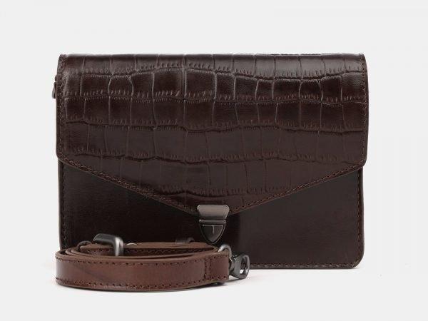 Вместительная коричневая женская сумка на пояс ATS-3882
