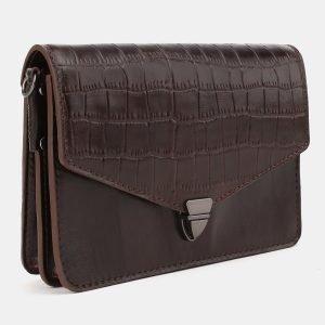 Вместительная коричневая женская сумка на пояс ATS-3882 210756