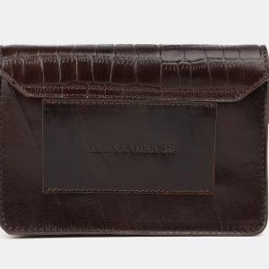 Вместительная коричневая женская сумка на пояс ATS-3882 210757