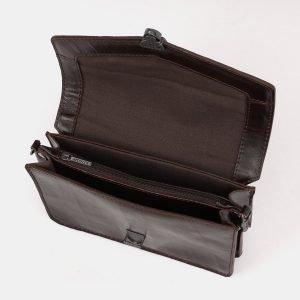 Вместительная коричневая женская сумка на пояс ATS-3882 210758