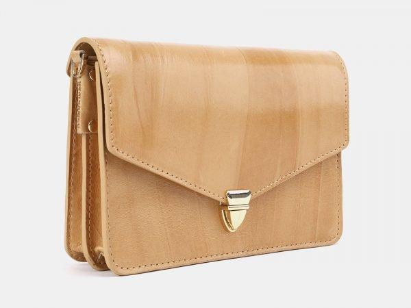 Стильная бежевая женская сумка на пояс ATS-3881