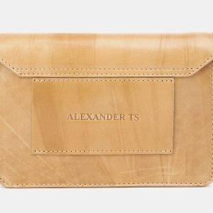 Функциональная бежевая женская сумка на пояс ATS-3881 210762