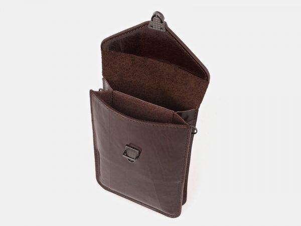 Стильный коричневый женский клатч ATS-3893