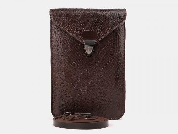 Стильный коричневый женский клатч ATS-3896