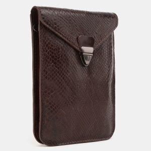 Стильный коричневый женский клатч ATS-3896 210654