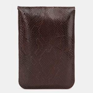 Стильный коричневый женский клатч ATS-3896 210655