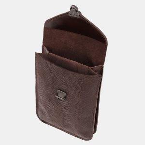 Стильный коричневый женский клатч ATS-3896 210656