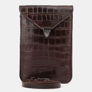 Функциональный коричневый женский клатч ATS-3894