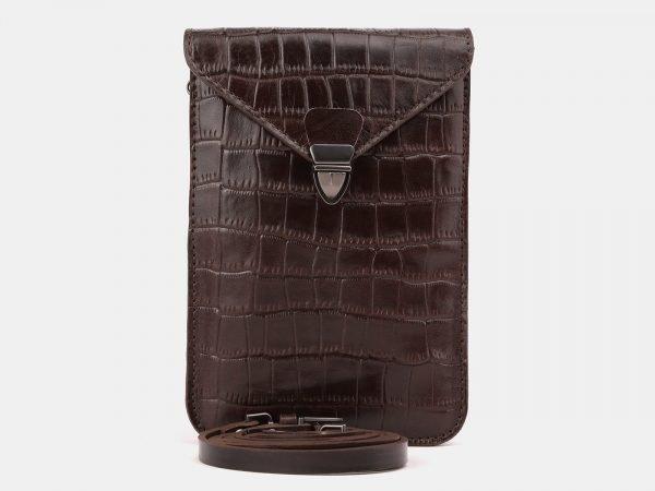 Стильный коричневый женский клатч ATS-3894