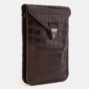Стильный коричневый женский клатч ATS-3894 210668