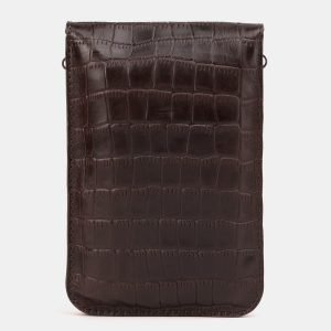 Стильный коричневый женский клатч ATS-3894 210670
